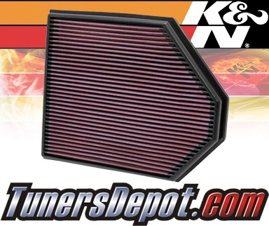K&N® Drop in Air Filter Replacement - 11-12 BMW X3 Non-Turbo F25 3.0L L6