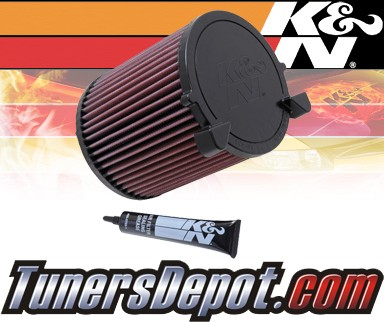 K&N® Drop in Air Filter Replacement - 11-12 Volkswagen VW Jetta 2.0L 4cyl
