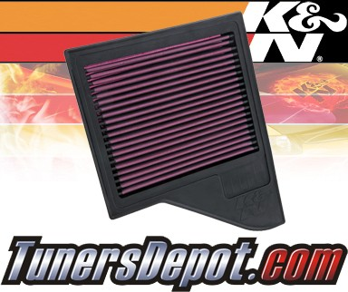 K&N® Drop in Air Filter Replacement - 11-13 Ford Mustang 5.0L V6