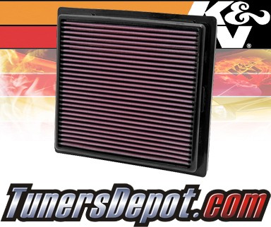 K&N® Drop in Air Filter Replacement - 11-14 Jeep Grand Cherokee 3.6L V6, 5.7L V8, 6.4L V8