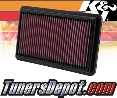 K&N® Drop in Air Filter Replacement - 12-12 Honda Civic Si 2.4L 4cyl
