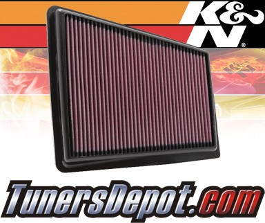 K&N® Drop in Air Filter Replacement - 12-12 Hyundai Genesis 5.0L V8