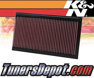 K&N® Drop in Air Filter Replacement - 12-12 Jaguar XF 2.2L 4cyl Diesel