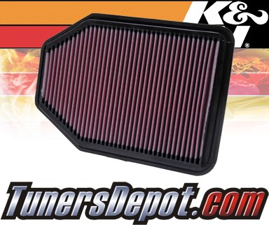 K&N® Drop in Air Filter Replacement - 12-12 Jeep Wrangler 3.6L V6