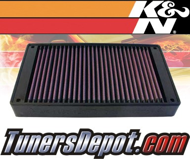 K&N® Drop in Air Filter Replacement - 84-89 Nissan Stanza 2.0L 4cyl