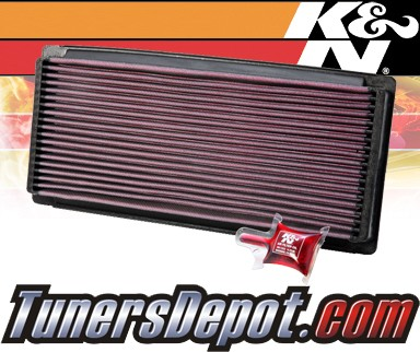 K&N® Drop in Air Filter Replacement - 87-96 Ford F350 F-350 4.9L L6