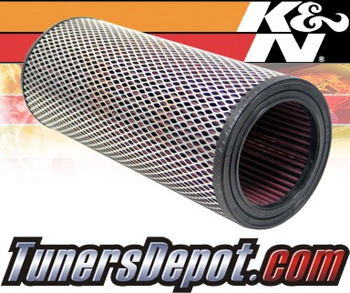 K&N® Drop in Air Filter Replacement - 88-01 Jeep Cherokee 2.1L 4cyl Diesel
