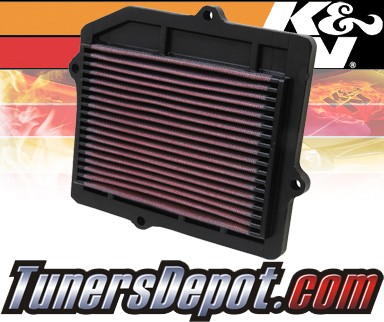 K&N® Drop in Air Filter Replacement - 88-91 Honda Civic 1.6L 4cyl
