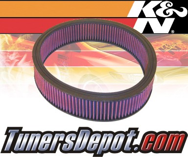 K&N® Drop in Air Filter Replacement - 88-91 Mercedes 300SE W201 3.0L L6