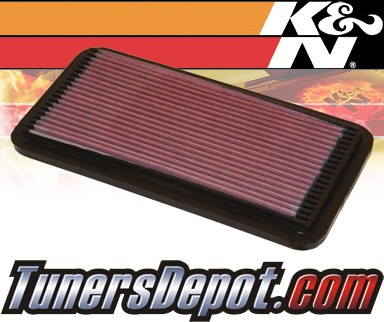 K&N® Drop in Air Filter Replacement - 88-91 Toyota Camry 2.5L V6