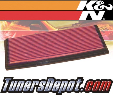 K&N® Drop in Air Filter Replacement - 88-92 BMW 735iL E32 3.5L L6