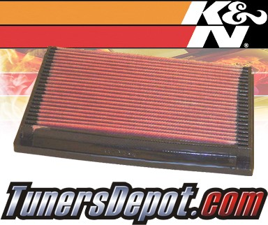 K&N® Drop in Air Filter Replacement - 88-92 Mazda 626 2.2L 4cyl