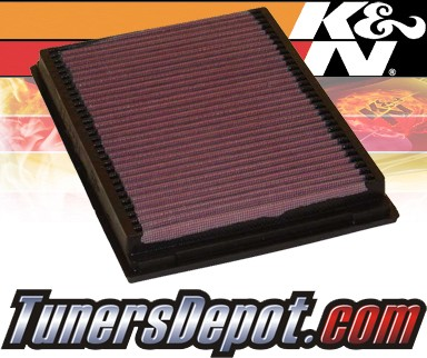 K&N® Drop in Air Filter Replacement - 88-93 BMW 750iL E32 5.0L V12