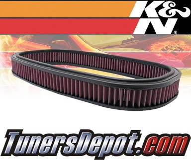 K&N® Drop in Air Filter Replacement - 88-93 Mercedes 190E W201 2.3L 4cyl