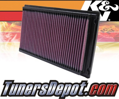K&N® Drop in Air Filter Replacement - 88-98 Nissan 240SX S13 S14 2.4L 4cyl