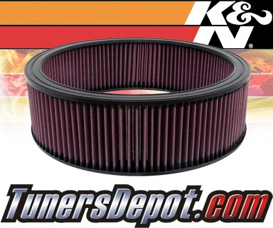 K&N® Drop in Air Filter Replacement - 89-91 Chevy Suburban R1500 6.2L V8 Diesel