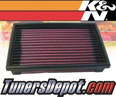 K&N® Drop in Air Filter Replacement - 89-92 Dodge Shadow Turbo 2.5L 4cyl