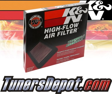 K&N® Drop in Air Filter Replacement - 89-93 Mazda B2600 2.6L 4cyl