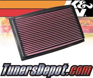 K&N® Drop in Air Filter Replacement - 89-93 Mercedes 190E W201 2.5L 4cyl