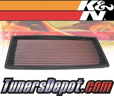 K&N® Drop in Air Filter Replacement - 89-96 BMW 525i E39 2.5L L6
