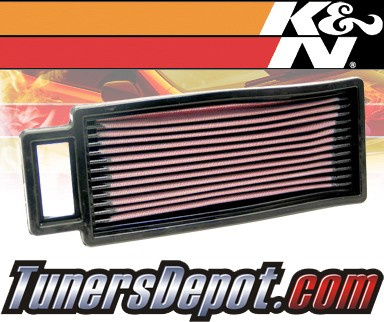 K&N® Drop in Air Filter Replacement - 90-90 Plymouth Acclaim Turbo 2.5L 4cyl