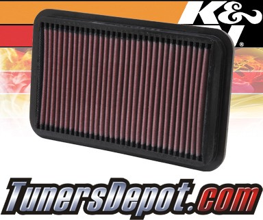 K&N® Drop in Air Filter Replacement - 90-92 Geo Prizm Gsi 1.6L 4cyl