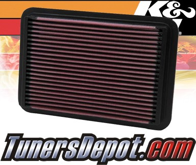 K&N® Drop in Air Filter Replacement - 90-93 Geo Storm 1.6L 4cyl