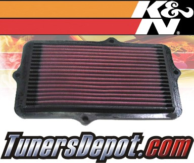 K&N® Drop in Air Filter Replacement - 90-93 Honda Accord 2.2L 4cyl