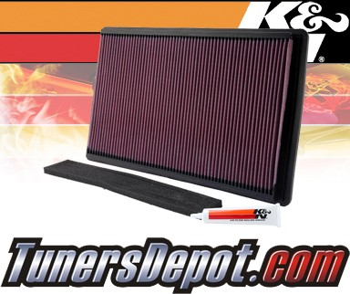 K&N® Drop in Air Filter Replacement - 90-96 Chevy Corvette 5.7L V8