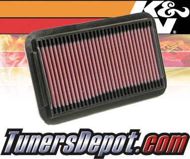 K&N® Drop in Air Filter Replacement - 91-92 Saturn S-Series SC SOHC 1.9L 4cyl
