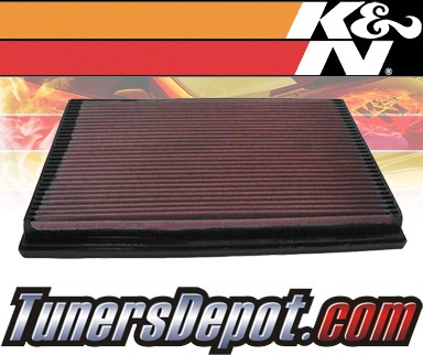 K&N® Drop in Air Filter Replacement - 91-92 Volvo 940 2.3L 4cyl