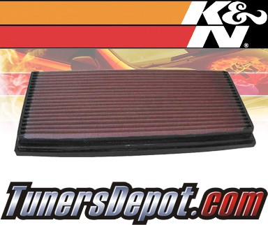 K&N® Drop in Air Filter Replacement - 91-93 Mercedes 500E W201 5.0L V8