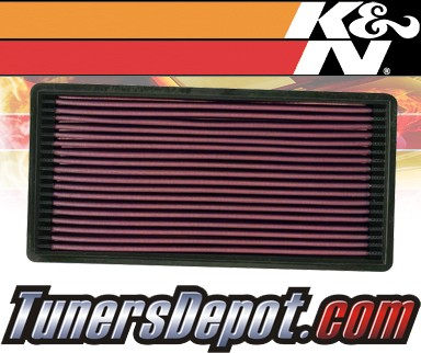 K&N® Drop in Air Filter Replacement - 91-95 Jeep Cherokee 4.0L L6