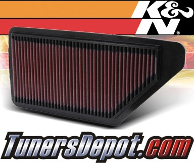 K&N® Drop in Air Filter Replacement - 92-01 Honda Prelude 2.2L 4cyl