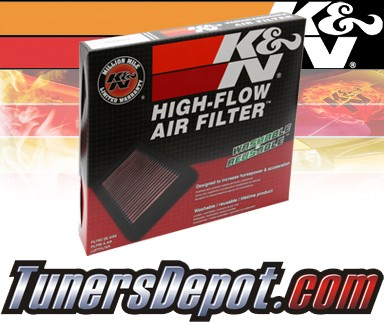 K&N® Drop in Air Filter Replacement - 92-03 Mitsubishi Lancer 1.6L 4cyl