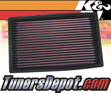 K&N® Drop in Air Filter Replacement - 92-93 Ford Escort GT 1.8L 4cyl