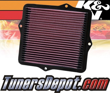 K&N® Drop in Air Filter Replacement - 92-95 Honda Civic DX 1.5L 4cyl