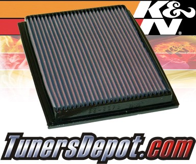 K&N® Drop in Air Filter Replacement - 92-96 BMW 540i E34 4.0L V8