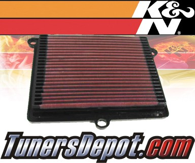 K&N® Drop in Air Filter Replacement - 93-93 Ford F450 F-450 Turbo 7.3L V8 Diesel