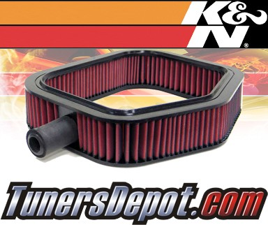 K&N® Drop in Air Filter Replacement - 93-93 Mercedes 300CE W201 3.2L L6