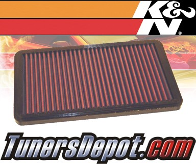 K&N® Drop in Air Filter Replacement - 93-93 Porsche 911 Turbo 3.6L H6