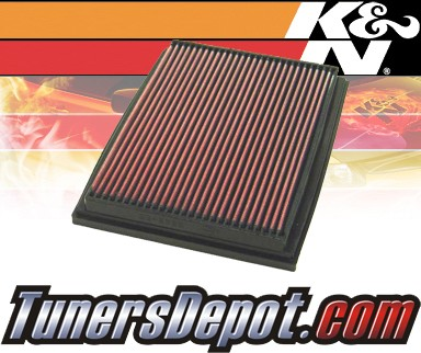 K&N® Drop in Air Filter Replacement - 93-95 Volvo 960 2.9L L6