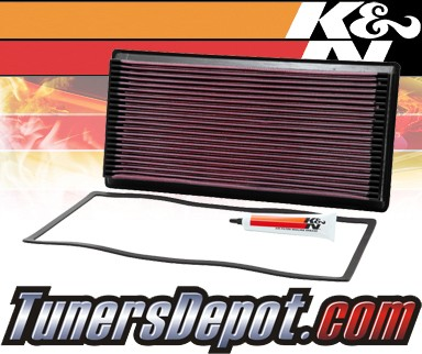 K&N® Drop in Air Filter Replacement - 93-96 Chevy Suburban C2500 6.5L V8 Diesel
