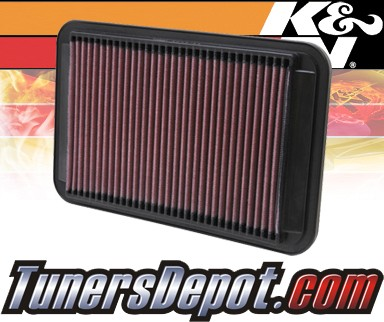 K&N® Drop in Air Filter Replacement - 93-97 Toyota Corolla 1.6L 4cyl