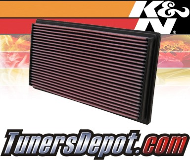 K&N® Drop in Air Filter Replacement - 93-97 Volvo 850 2.3L L5