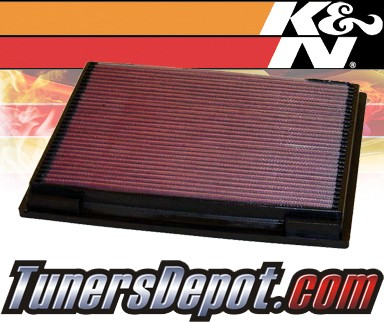 K&N® Drop in Air Filter Replacement - 93-98 Jeep Grand Cherokee 5.2L V8