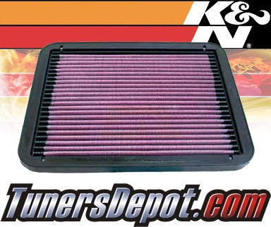K&N® Drop in Air Filter Replacement - 94-02 Mitsubishi Galant 2.4L 4cyl