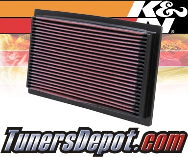 K&N® Drop in Air Filter Replacement - 94-97 Audi A6 2.8L V6