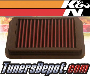 K&N® Drop in Air Filter Replacement - 94-99 Hyundai Accent 1.3L 4cyl
