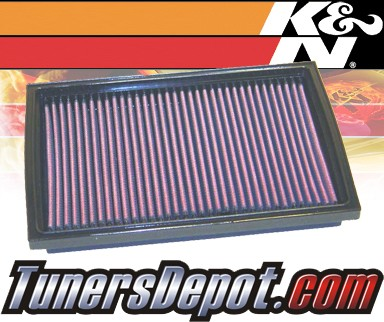 K&N® Drop in Air Filter Replacement - 95-04 Kia Sportage 2.0L 4cyl